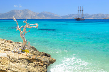 Beautiful sea at Koufonisia Pano islet, Small cyclades near Naxo