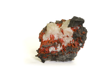 Realgar (ruby sulphur) from Nevada, USA. 6.9cm across.