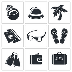 Travel icon collection