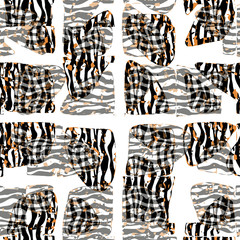 Seamless striped patterned texture