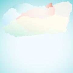 Vector abstract background composed of clouds and sky