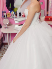 Bride in Pink Room