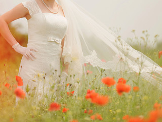 Bride in Poppies