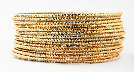 Bangle, Indian bracelets isolated on the white