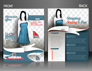Shopping Center  Front & Back Flyer Template