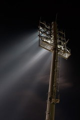Stadium lights from behind