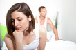 Frustrated woman experiencing intimacy problems