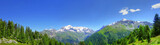 Panorama des Alpes en été