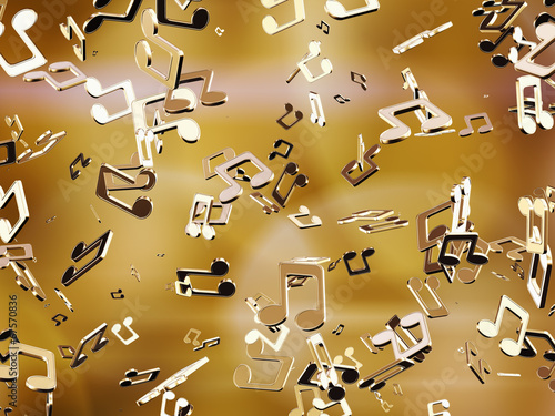 Golden music notes.