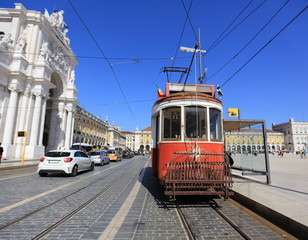 Old red tram