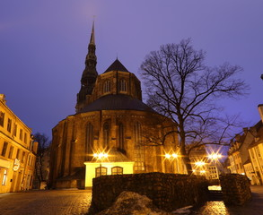 Riga in the night
