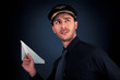 Pilot Launching Paper Airplane - 67571847