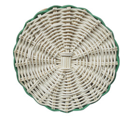 Pattern rattan round hand made background isolated