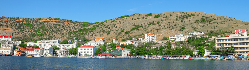 BALAKLAVA, CRIMEA . Panorama of Balaklava sea b