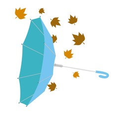 Paraguas invertido azul sin fondo