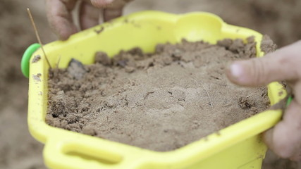 Pail with sand