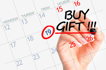 Buy a gift reminder date