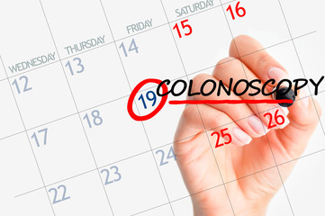 Colonoscopy appointment date on calendar