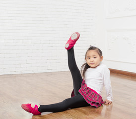 Girl practicing dance