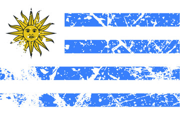 Decayed flag of Uruguay