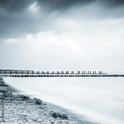 canvas print picture Baltic Sea, Zingst, Germany