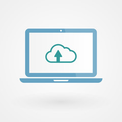 Laptop and upload cloud