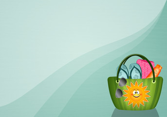 Beach bag background