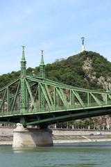 Liberty bridge and Gellert hill Budapest