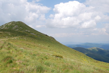 Mountain peak in The Osogovo Mount