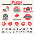 pizza icons, signs & labels