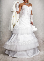Wedding dress, shooting for the catalog of wedding dresses 3