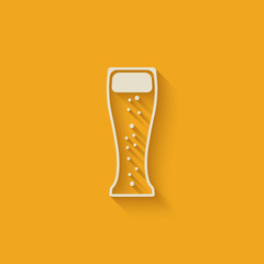 beer glass design element