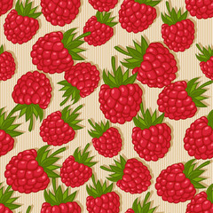 raspberries seamless pattern