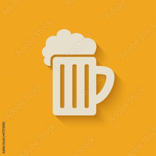 beer mug design element Poster