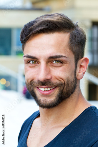 canvas print picture Portrait of a young, modern man