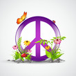 symbol peace mit blumen