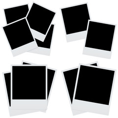 set photo frames isolated