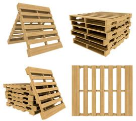 set Wooden pallet
