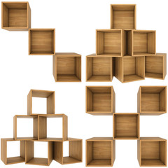 set boxes wood