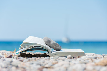 Book on the beach