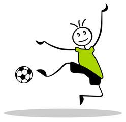 Fußballer mit grünem Trkot