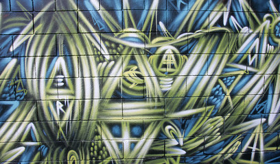 Graffiti en un muro de Barcelona