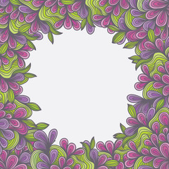 Ornamenral Pattern circle floral swirls flower