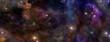 Leinwandbild Motiv Deep Space Banner