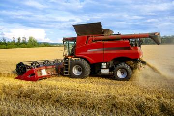 Harvester harvesting crops