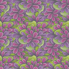 Seamless Floral Flower Swirl Pattern Background