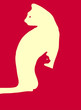 cat in the cat veterna illustration poster bright