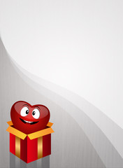 Heart in gift box for organ donation