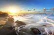 Houle sur les plage réunionnaises.