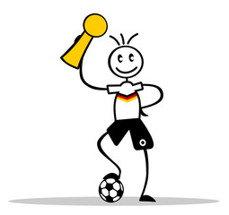 Strichmännchen Fußballer Deutschland